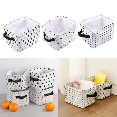 Foldable Storage Basket Clothes Laundry Bins Newspaper Books Toys Organizer DIY