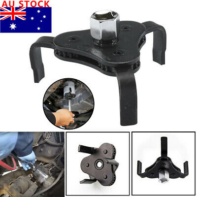 3 Jaw 2 Way Dual Drive Oil Fuel Filter Remover Wrench Removal Tool 63 to 103mm