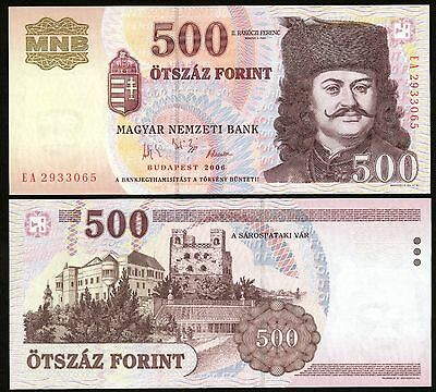 Hungary 500 Forint 2006 paper banknote P#188 Magyar Ungarn UNC