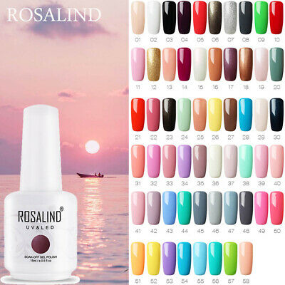 ROSALIND High Capacity 15ml Gel Nail Polish Set for Professional Manicure