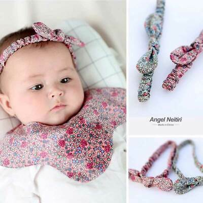 Newborn Headband Elastic Baby Print Floral Bunny Bow-knot Hair Band Girls Gift