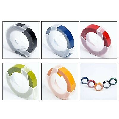 5 Color Label Maker Embossing Refill Tape 9mm*3Meter Replace For MOTEX Dymo Part