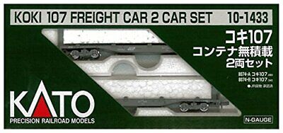 Kato 10-1433 Freight Car KOKI 107 without Container 2 Cars Set From japan