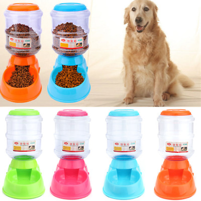 3.5L Large Automatic Pet Dog Cat Food Feeder Fountain Dispenser Bowl Dish