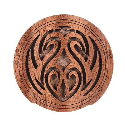 Acoustic Guitar Feedback Buster Fire Soundhole Cover Sound Buffer Wood Gift I0Y5