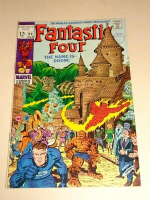 Fantastic Four #84 Fn (6.0) Marvel Comics Kirby Dr Doom March 1969**