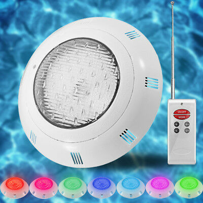 12V 18W 7Color RGB LED Underwater Swimming Pool Bright Light+Remote Control IP68