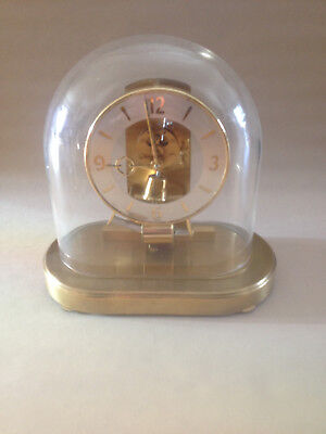 Vintage Kundo Electro Magnetic Clock in Oval Glass Dome Kieninger & Obergfell