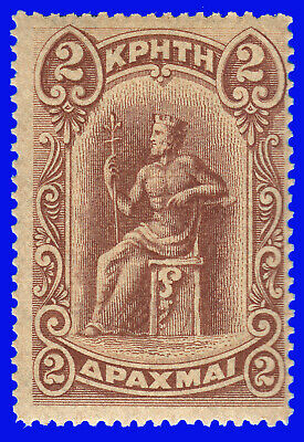 GREECE CRETE 1900 First issue 2 Dr. Brown MNH SIGNED UPON REQUEST