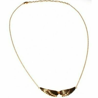 Double Angel Wings 18ct Gold Plated 925 Sterling Silver Necklace Chain Pendant