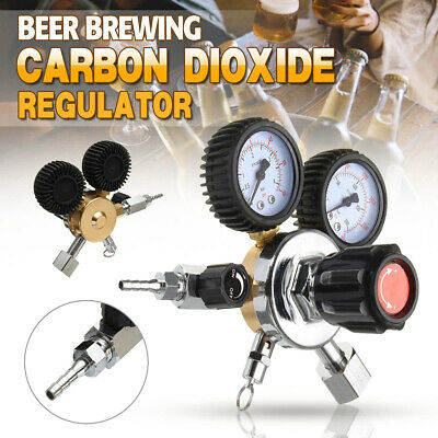 Dual Gauge CO2 Regulator Beer Carbon Dioxide Bar Soda Draft Beer Home Brew Gas