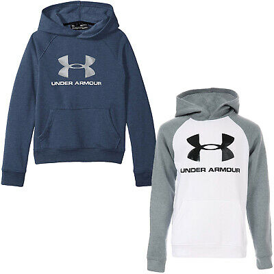 Under Armour Boys Youth Rival Logo Long Sleeve Sports Gym Sweatshirt Hoodie Top