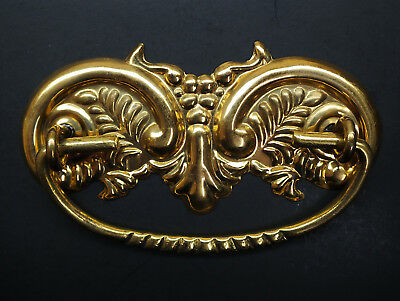 "Antique Style Victorian Drawer Pull, Furniture Bail Cc 3"" Solid Brass"