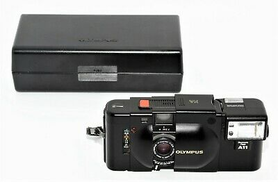 Olympus XA A11 35mm Compact Film Rangefinder Camera with 35mm 2.8 lens Kit