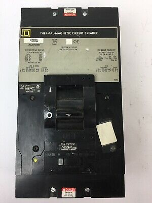 Square D Lal36400Mb Thermal-Magnetic Circuit Breaker 400Amp 600Vac 250Vdc 3 Pole