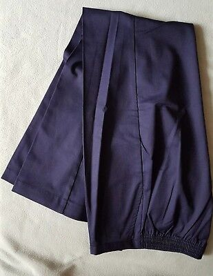 Ladies work/ hospital scrub trousers navy blue size 16, length 30""