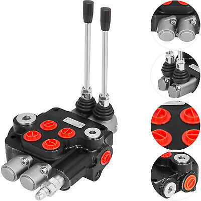 2 Spool Hydraulic Control Valve 21 GPM Double Acting Monoblock Cylinder Spool