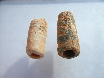 2 Ancient Neolithic Stone Beads, Stone Age TOP!