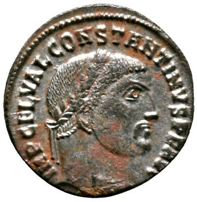 CONSTANTINE THE GREAT (316 AD) Rare Follis. Alexandria #IU 1618