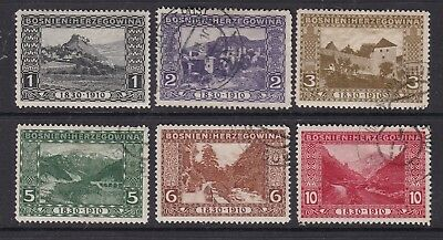 BOSNIA  ^^^^^^^^1910   x6  better used  CLASSICS   $$@ dc73bos