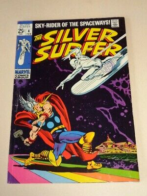 Silver Surfer #4 Vg+ (4.5) Marvel Comics Real Nice Spine February 1969**