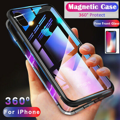 New Luxury Magnetic Adsorption Slim Shockproof Clear Back Case Cover For iPhone