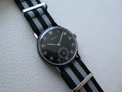 Elegant Very rare Vintage HERMA Men's Military style watch from 1940's years!