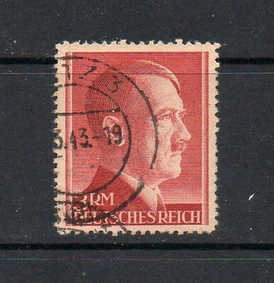 Germany Third Reich 1942 Hitler 3Rm High Value Sg801 Good Used High Cat £24