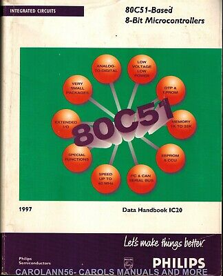 PHILIPS Data Book 1997 80C51 Based 8-Bit Microcontrollers #IC20