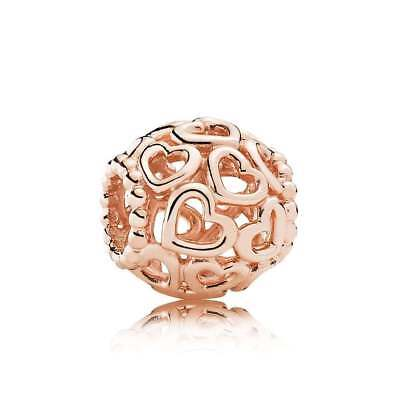 Genuine PANDORA Rose GOLD Openwork LOVE Charm 780964 Heart Valentines Day