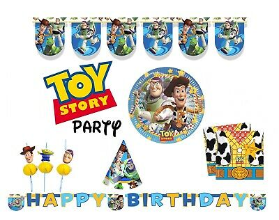 Disney Pixar Toy Story Birthday Party Tableware Decorations Boys Girls Supplies