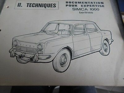 SIMCA 1000 part list en français 1967