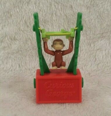Vintage Curious George Tricky Trapeze Toy Universal Studios