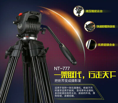 NEST NT-777 Camera Camcorder Tripod Professional for DSLR Video Tripod