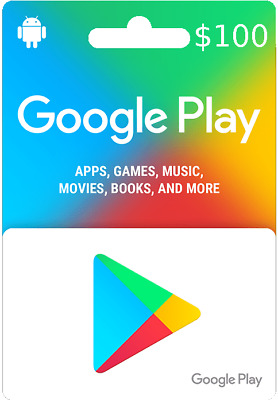 $100 google play gift Card
