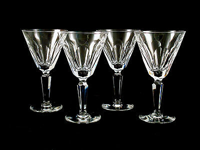 Waterford Crystal Sheila Water Goblets Glasses Set of 4