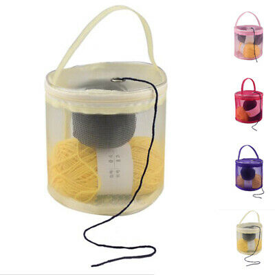 Storage Bag Mesh Yarn Wool Basket Holder Carry Pouch Nylon DIY Organizer Tote