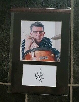 Mike Joyce The Smiths  signed 12x8 card display  AFTAL PROOF