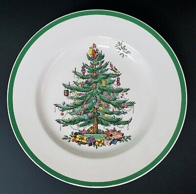 """Spode Christmas Tree 10 3/4"""" Dinner Plate(s) Made in England"""