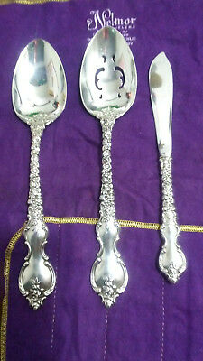 International Du Barry Sterling Silver Serving Spoons - No Monograms