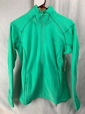 NEW MOUNTAIN HARDWEAR WOMENS MICROCHILL 2.0 ZIP JACKET FLEECE GREEN MILE L-XL