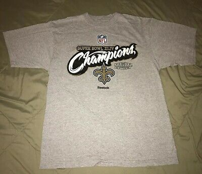 Vintage New Orleans Saints NFL Super Bowl XLIV Champions Reebok Shirt. Men s  M 77c8fa660