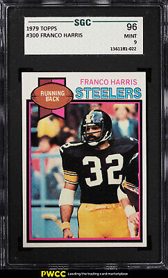1979 Topps Football Franco Harris #300 SGC 9 MINT (PWCC)