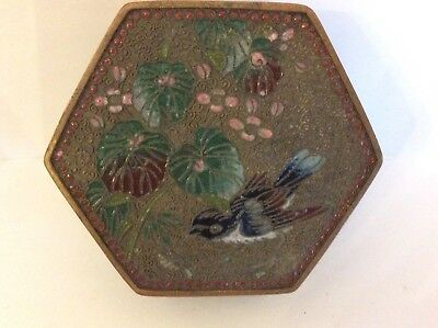 Sukashi Jippo Japanese Open Work Cloisonne Enamelled Box Rare Antique Design