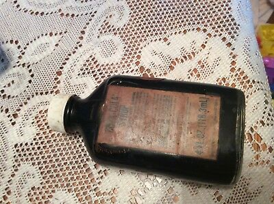 VT 1950's - 1960s Coca Cola Syrup Medicine Bottle 4 Ounces FULL W/ Price Sticker