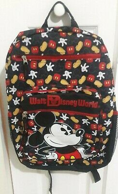 DISNEY STORE MICKEY MOUSE Book bag Backpack for Adults BLACK w red ... 6b20d231caac2