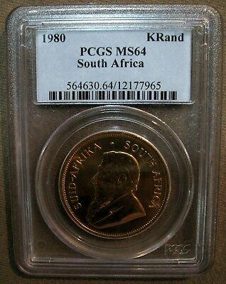 ⚖ 1980 PCGS Graded BU GOLD South African KRUGERRAND ⚖ One OUNCE of GOLD ⚖
