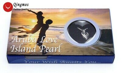 """Wish Pearl Wholesale One Heart Pendant Necklace for Women Oyster 17"""" Chokers Set"""