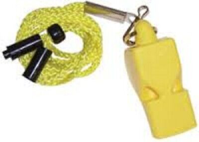 3 PACK = $4.49 per Fox 40 Classic Whistle with lanyards -1 YELLOW/1 RED/1 ORANGE