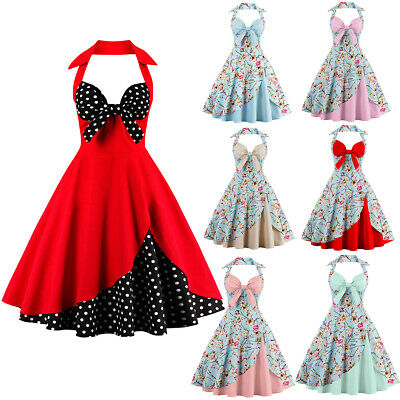 Lady 50s Dance Swing Housewife Rockabilly Vintage Pinup Evening Party Prom Dress